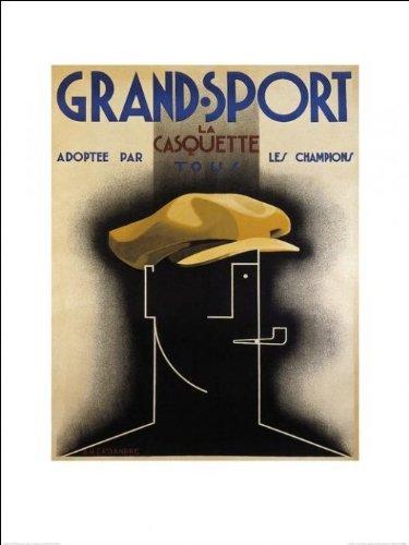 """Grand Sport-Berretto-Art Print-60 x 80 Cm, motivo: manifesto/Poster """""""