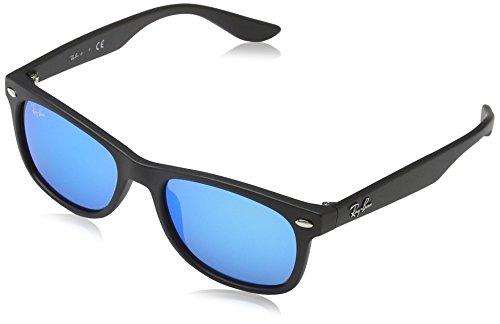 Ray-Ban Unisex Sonnenbrille Rj9052s Gestell: Schwarz, Gläser: Blau Verspiegelt 100S55), Medium (Herstellergröße: 48)