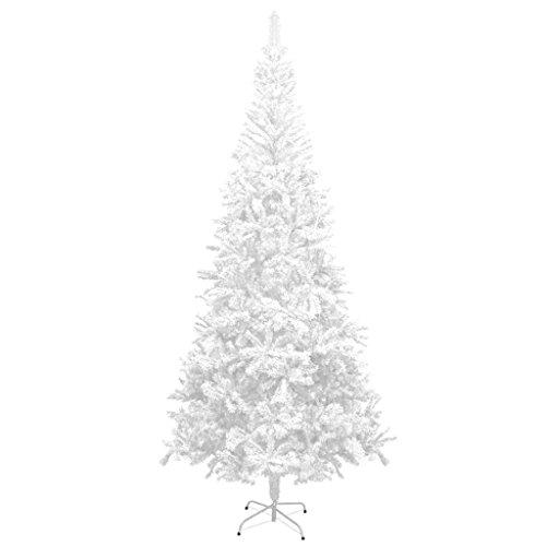 Vidaxl albero di natale artificiale 240cm bianco con supporto abete natalizio