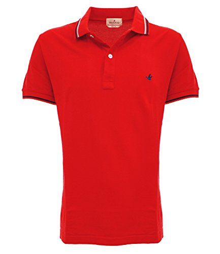 POLO CLASSICAciliegia v0043 Brooksfield Polo light piquet Rosso 48 Uomo