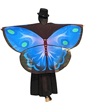 zolimx Moda mujer mariposa de alas chal suelto ligero Kimono chaqueta superior camisa blusa