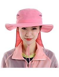 Pesca de moda de verano al aire libre de Protección Solar Cap cuello de la cara de la aleta de sombrero de ala ancha , pink