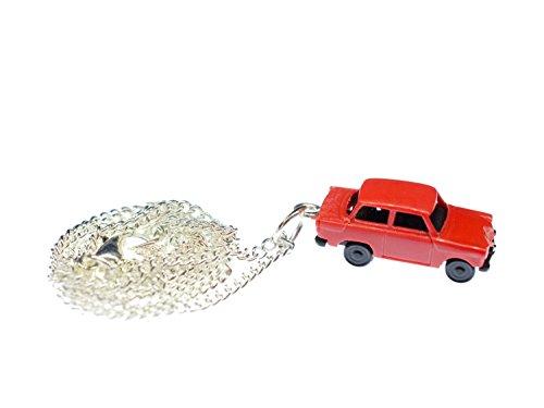 Miniblings Trabi Kette Halskette 45 cm Miniatur Auto Trabant Fahrzeug Pkw Rot
