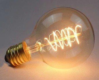 Binder Clip 6 pcs Edison light carbon Seide Seide antike Kronleuchter Kronleuchter Lampe Lampen Retro Retro Vintage edsion Glühbirne, 40, g80 Wicklung, warmes Gelb