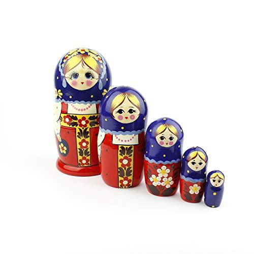Cikuso Russian Matryoshka Blank Nesting Dolls Paint Your own Set of 5