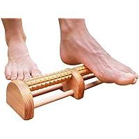 Rodillo de masaje de pies 2018 Generación recomendada por profesionales para fascitis plantar eficaz alivio del dolor de pies un gran hogar portátil masajeador de madera bolas que masajea el tejido