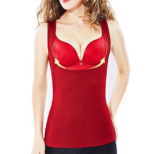 Gilet Da Donna Senza Maniche Termico ECYC® Winter Underwear Da Donna A04: vino rosso