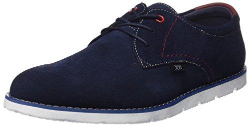 XTI 047001, Zapatos Cordones Derby Hombre, Azul Navy