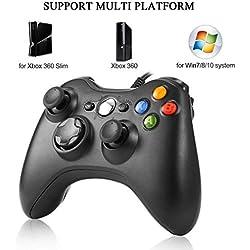 LESHP Manette filaire Gaming USB Câbler Xbox 360 Gamepad Controller Joystick Manette Pour PC