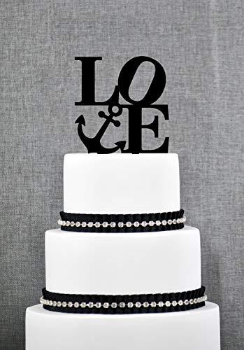 Décoration de gâteau de mariage de style nautique de Philadelphie, décoration de gâteau moderne, décoration de mariage sur le thème nautique, décoration de mariage