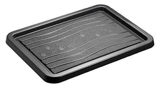 Rotho 6689308086 Zerbino Neve e Pioggia in Materiale plastico PP, Piccolo, Protezione Ideale da umidità e Sporco, Circa 51 x 39 cm, Antracite