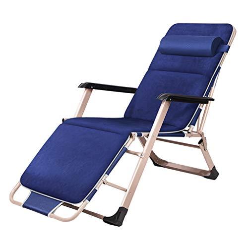 YFF-Liegen Klappstühle Liegestühle im Freien Sonnenliege Heavy Duty Relaxliege Liegestuhl Büro-Patio einstellbar Tragbar mit Becherhalter für Poolside, Strand, Hof, Deck Max.150kg -