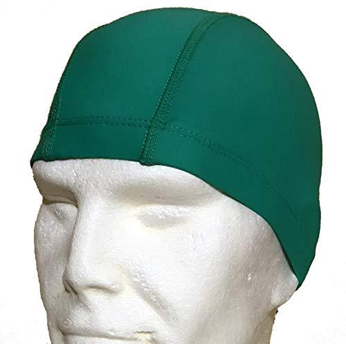Aqaskin cuffia nuoto piscina unisex uomo donna bambino in lycra anallergica senza lattine e silicone comoda e facile da indossare (colore verde)