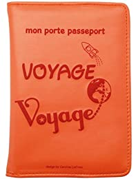 Caroline Lisfranc - Porte-passeport voyage-VOYAGE POP Orange