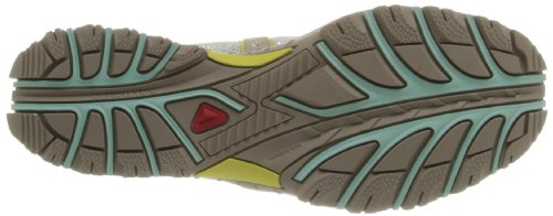 Salomon Techamphibian 3, Chaussures de Marche Nordique Femme, Light Onix White Lucite Green Beige (Sand/Light Hay Yellow/Igloo Blue)
