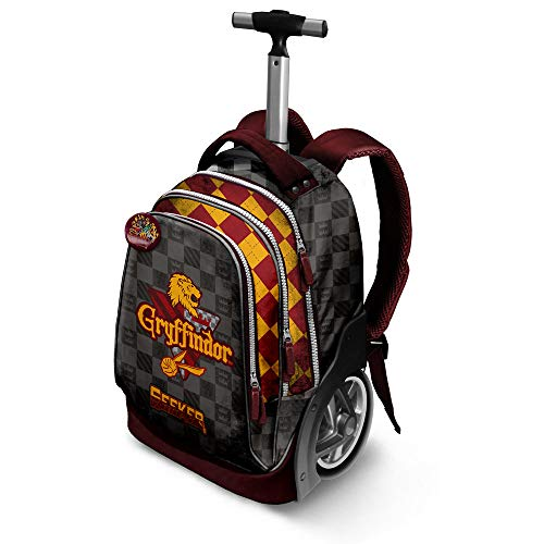 Karactermania Harry Potter Quidditch Gryffindor-GT Travel Trolley Backpack Zaino Casual, 51 cm, 42 liters, Rosso (Red)