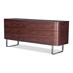 sideboard walnuss tv schrank lowboard anrichte. Black Bedroom Furniture Sets. Home Design Ideas