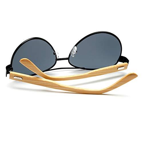 JIAHE115 Mode Sonnenbrillen HJCA Sonnenbrille XHM-51 Natürliche Handgemachte Bambus Beine Männer Und Frauen Brille Outdoor Beach Break Uv400 Schutz Sonnenbrille - (DREI Farben Optional) Schöne Brille