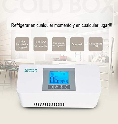 41TjUj6C%2B1L - MaquiGra Nevera Portátil para Medicamento Nevera Inteligente para Coche Refrigerador de Medicina Mini Caja de insulina Semiconductor Refrigerador de Coche Viaje Hogar(2-8℃) Temperatura Constante