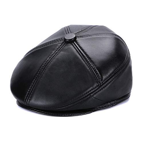 Wildleder Newsboy Cap Hat (LWY Hut, Flat Cap, Retro Cap, Winter Windproof Warm Newspaper Cap, Ear Protection Design, Sweat-Absorbierin Breathable, Men,XXL)
