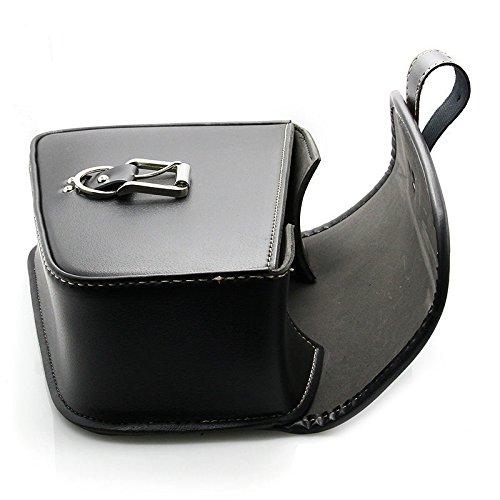 LEAGUE&CO PU Leder Links /Rechts Motorradtasche Satteltasche Gepäcktaschen Werkzeugtasche für Harley Davidson Sportster 1200 883 Links