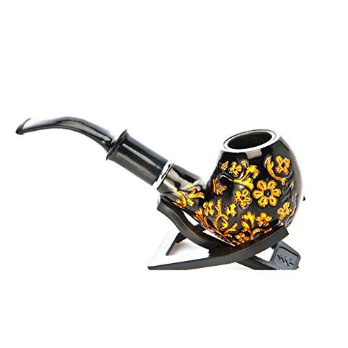 QFQ Pipe da tabacco Classico Tabacco Da Sigaretta Staccabile Tabacco Da Pipa Tabacco Da Fumo Gents Tubo Di Legno Vestito Operato Accessorio Filtro Di Raffreddamento Del Metallo