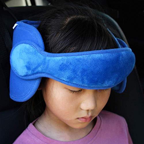 FREESOO Kopfstütze Kindersitz Kinder Auto kinderkopfstütze für Autositz Nackenstützen Einstellbare Kopfschutz Schlafkissen Kopfhalterung Blau - Auto-kindersitz Kind