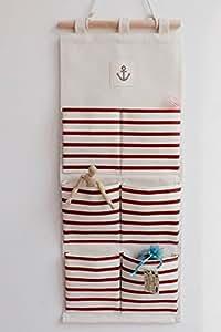 Fashion wand aufh ngen tasche 6 taschen mit back t r h ngende aufbewahrung tasche anti mold - Taschen aufbewahrung wand ...