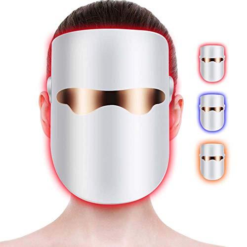 Rziioo Lichttherapie-Maske Akne-Behandlungen Unbegrenzte Sitzungen - von Rot/Blau/Orange - Maske 6 Behandlungen
