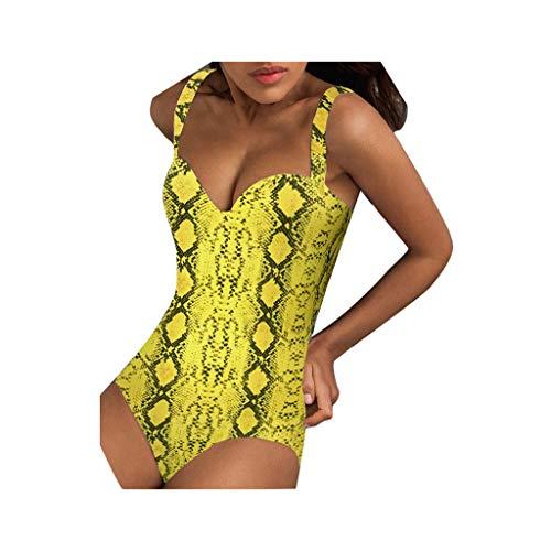 ZZXIAN V-Ausschnitt Bikini Retro Cover Up Damen Set Push Up, Badeanzug Off Shoulder Einteiler Streifen Bademode Tankini Sexy Schwimmanzug Frauen