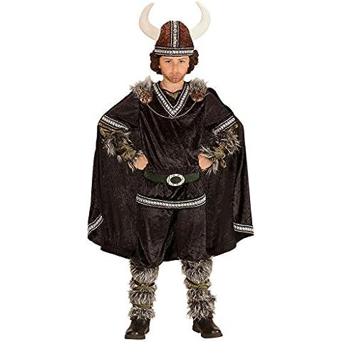 Widmann 05986infantil Disfraz Vikingo, Superior, pantalones, cinturón, mangas, pierna Sirven, capa y casco