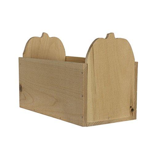 Walnuss Hohl Holz rustikal Kürbis box-5.5-inch X 27,9cm x 17,8cm
