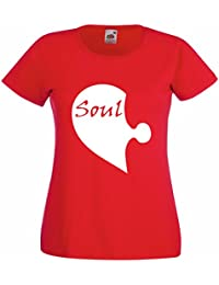 Ladies soulmate half soul T-shirt