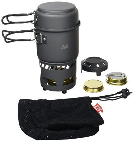 41TjY8O%2BPIL - Esbit Cookset with Alcohol Burner | Compact Size | Large & Small Pot | Camping, Backpacking, Hiking | Outdoor kitchen