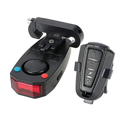 JSMeet Fahrrad Rücklichter Intelligente Diebstahlsicherung Fahrrad Rücklicht Alarm LED Radfahren Strobe Warnung Elektrische Glocke mit Wireless Remote USB Kabel MTB Zubehör