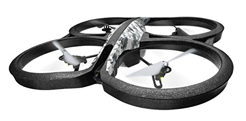 Parrot AR.Drone 2.0 Elite Edition Snow - Dron cuadricóptero (12 minutos de vuelo, cámara HD, 50 metros de alcance, pilotaje con Smartphone o Tablet)