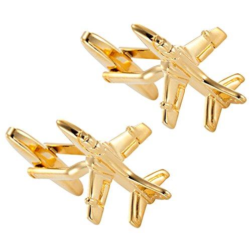Kupfer getönten Edelstahl Manschettenknöpfe Jet Flugzeug Manschettenknöpfe für Herren