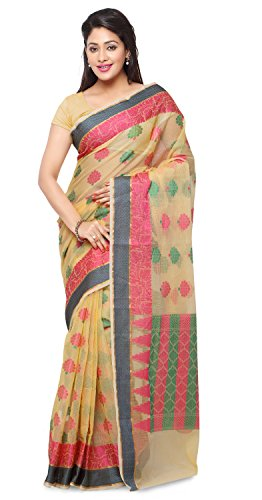 Rajnandini Cotton Sari Saree (Joplsrs1076A_Bright Yellow)