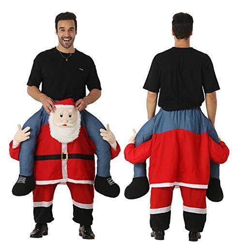 SinceY Weihnachtsmann Kostüm Für Herren Mit, Tragen Weihnachtsmann Kostüm Weihnachtsmann Reiten Mich Huckepack Erwachsene Xmas Clause Kleidung Requisiten Für 59.05
