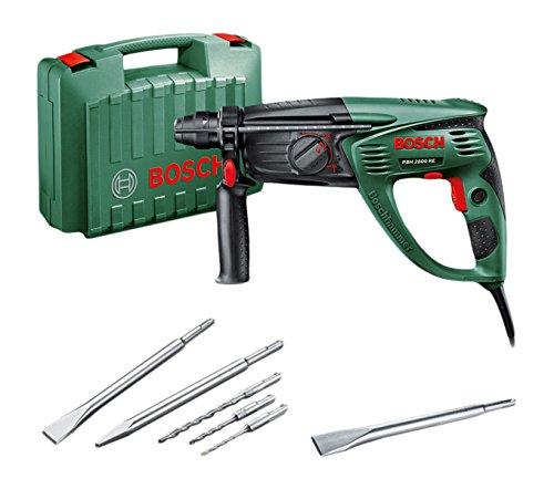 Bosch-DIY-Bohrhammer-PBH-2800-RE-Flachmeiel-Tiefenanschlag-Zusatzhandgriff-Koffer-720-W-Bohr--Beton-26-mm