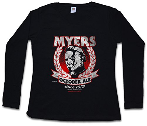 Urban Backwoods Myers October Ale Woman Donna T-Shirt A Manica Lunga – Taglie XS – 2XL Nero