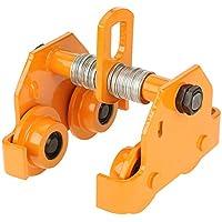 Carrito de empuje de haz, 1 tonelada de capacidad de tracción, ajustable, de acero inoxidable, con barra de empuje, herramienta de precisión, color amarillo