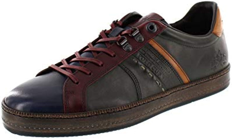 La Martina - scarpe da ginnastica L6080200 - Buttero blu Calf Delave verde | Modalità moderna  | Uomini/Donna Scarpa