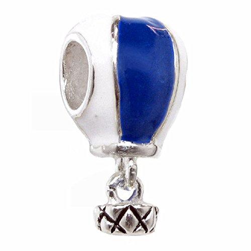 Silber Hot Air Ballon im europäischen Stil Dangle Bead Charm ()