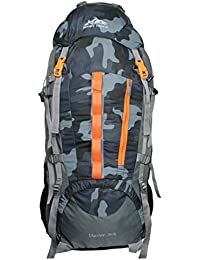 Mount Track Discover 9107 Rucksack, Hiking Backpack 75 Ltrs Camouflage with Rain Cover