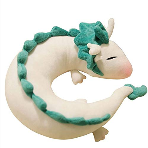 LFR2 Ghibli Miyazaki Hayao - Peluche de Haku (28 cm), diseño de dragón Blanco