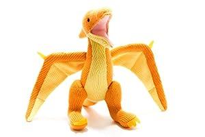 best years original by design BY4166NB - Peluche de Dinosaurio Tejido, Color Naranja
