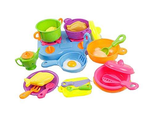 24 PCS Gas Herd Töpfe und so auf Mini Kinder Küche mit Spielzeug Set