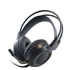 KARTELEI Gaming Headset 3,5 mm Stereo Noise Isolation LED-Licht Kopfhörer für PC, Xbox One, PS4, Nnintedo Switch