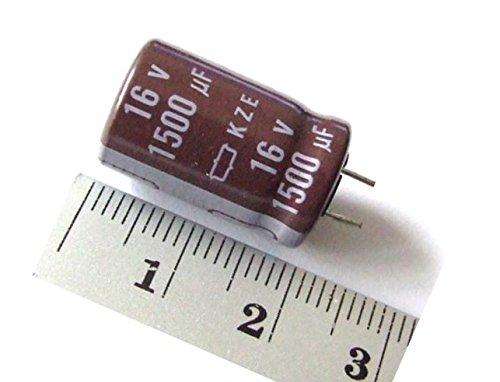 5x ELKO Kondensator 1500uF 16V Radial LOW ESR - Low Impedance 105C 5000 Hrs. / E-Capacitor Low-esr-cap